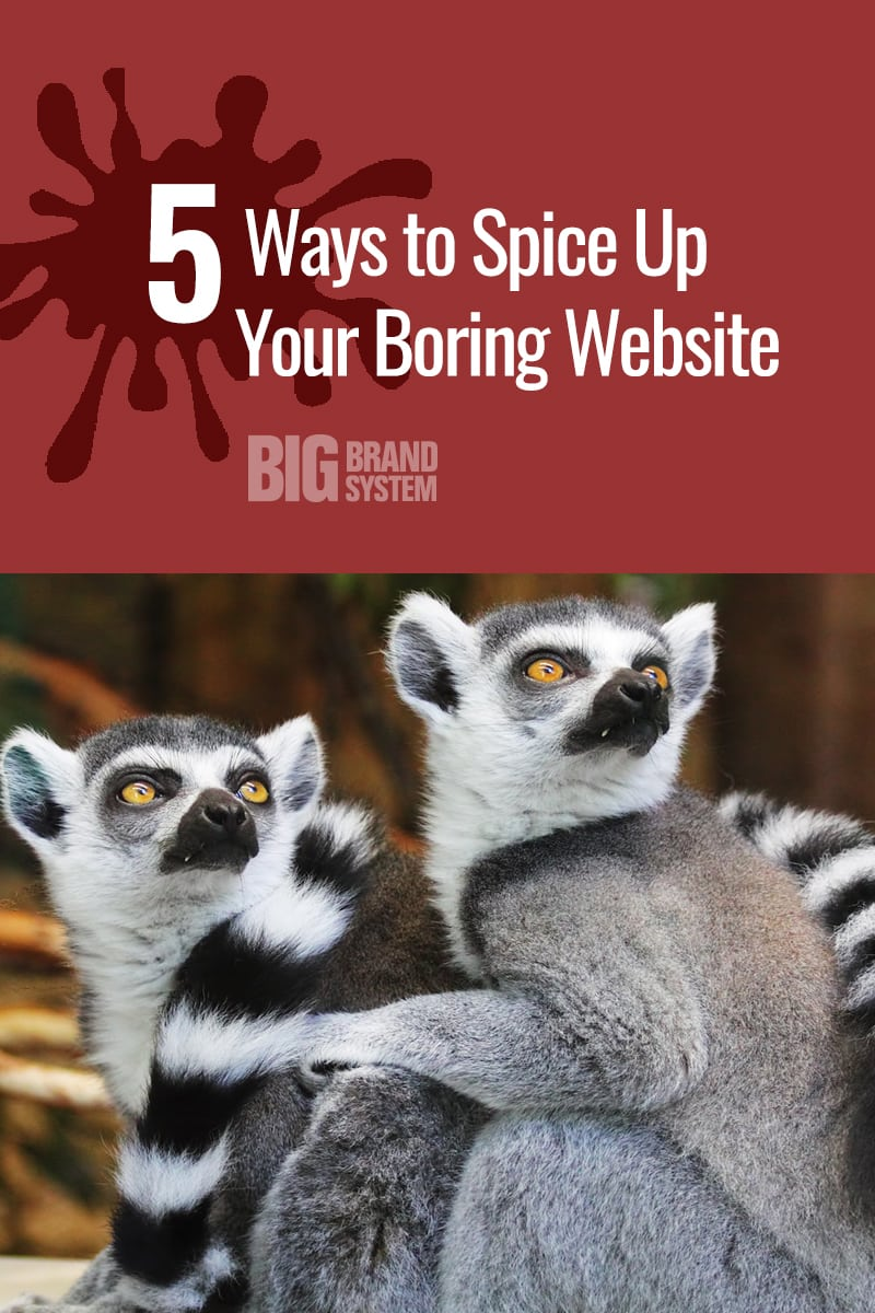 Is your website making you yawn? Website design inspiration is here — and spicing things up is way easier than you think! Click through for super simple ways to make your business website (on WordPress, Squarespace, Wix, or anything) stand out! #websitedesign #branding #onlinebusiness