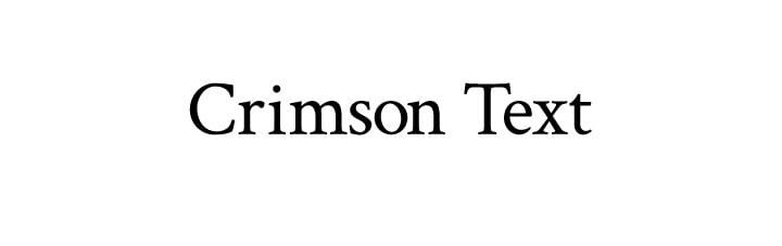 The rich font Crimson
