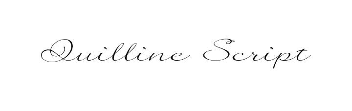 The rich font Quilline Script