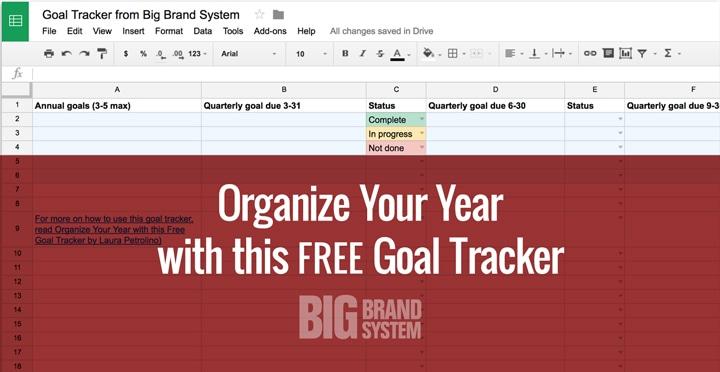 Free goal tracker