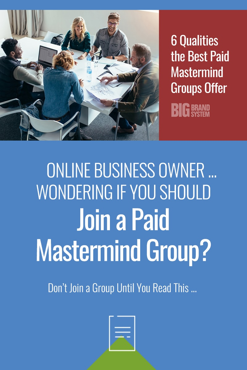 Is a paid Mastermind group really worth it? Maybe ... if you\'re feeling alone as you build your online business, a paid Mastermind group can be like an informal Board of Directors who support and encourage you. Click to read more! #onlinebusinesstips #mastermind #mastermindgroup