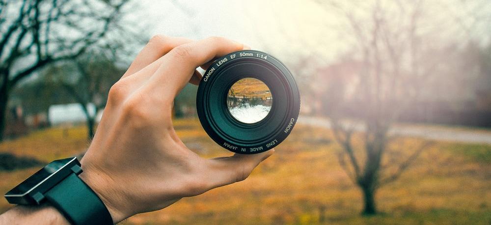 Business focus: a camera lens