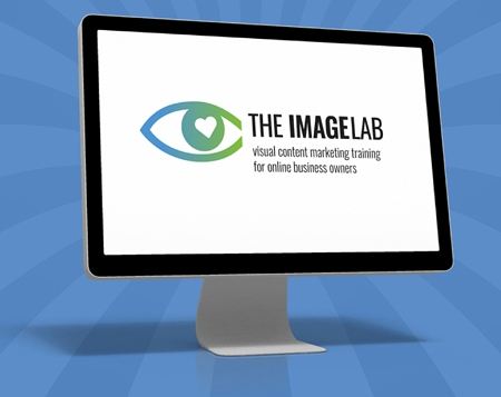 The Image Lab course on a computer monitor