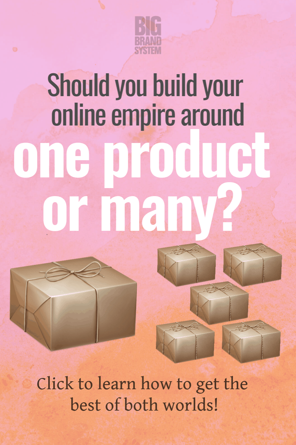 You\'re running your business, so your business product strategy has to work for you. Does that mean you should build a single product ... or multiple products? Here\'s how to choose the approach that works for you. #onlinebusiness #bigbrand #bigleague