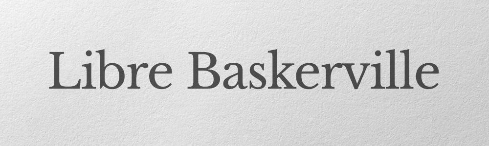 Baskerville font