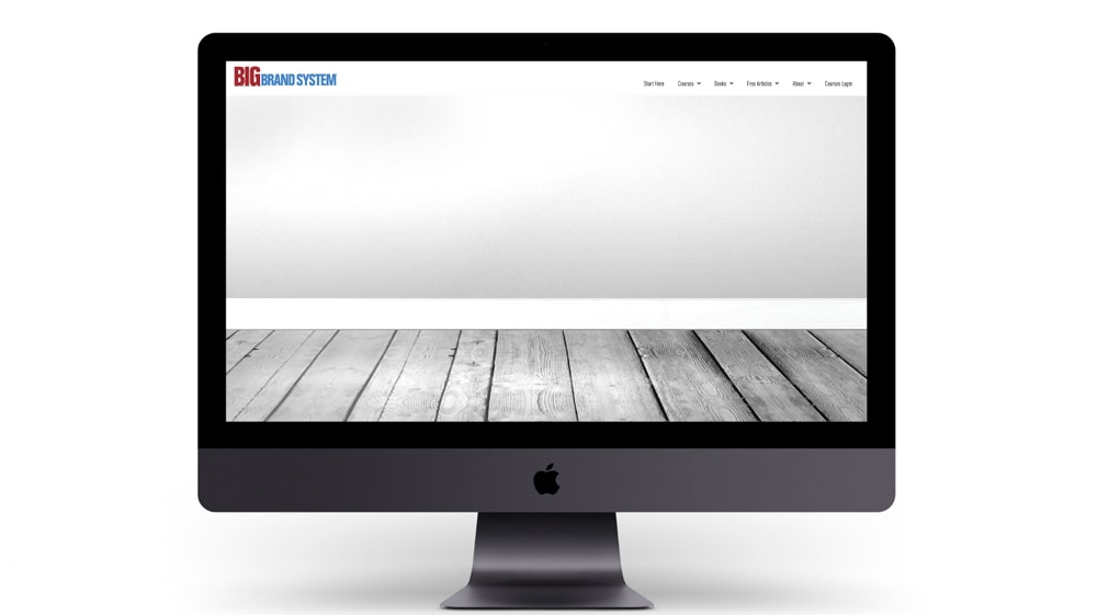 A screen with an image representing content marketing on an empty blog