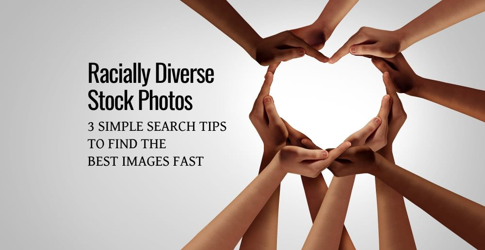 how to search for and find racially diverse stock photos on any stock image website