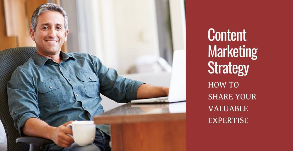 Man at computer: Content Marketing Strategy, How to Share Your Valuable Expertise