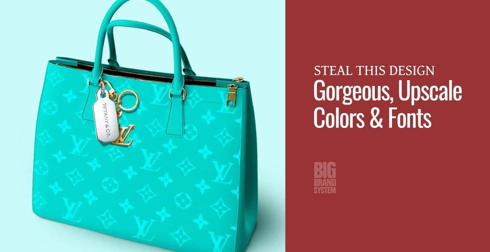 A blue Louis Vuitton handbag