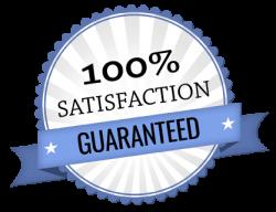 100% satisfaction guaranteed symbol